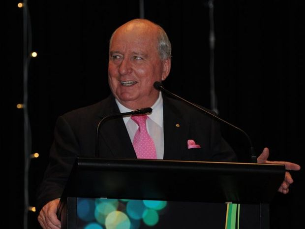 Alan Jones (seen here at the 2013 Lockyer Valley Business Awards) will headline the anti-mining forum in Grantham on Sunday